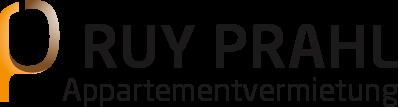 Schriftzug Ruy Prahl Appartementvermietung
